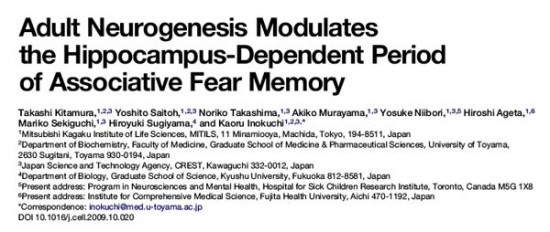 Adult Neurogenesis Modulates the Hippocampus-Dependent Period of Associative Fear Memory